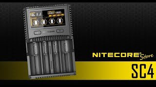 Nitecore SC4 Superb Charger 4-Bay Battery Charger for 18650, 16340, 26650, 14500 and more