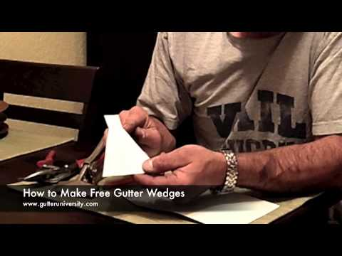 How To Make And Install Gutter Wedges Youtube