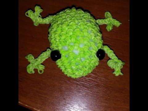 Как сделать лягушку из резиночек