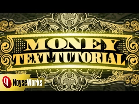 Money Text Photoshop Tutorial