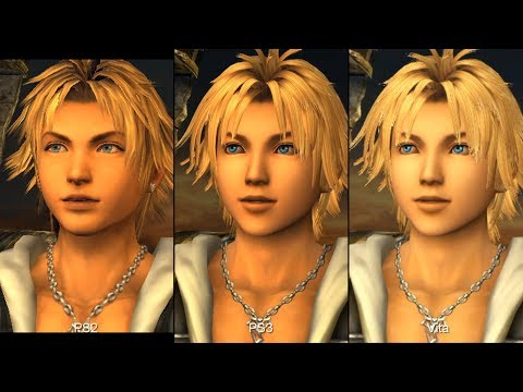 Final Fantasy X/X-2 HD Remaster PS2 vs. PS3 vs. Vita Comparison