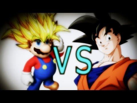 Super Mario Super Saiyan Vs Goku - Davidekyo video