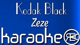 Kodak Black - Zeze | karaoke lyrics instrumental (feat Travis Scott & Offset)