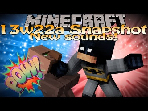 Minecraft 13w22a Snapshot Update (Minecraft 1.6) - New sounds for villagers and horses!