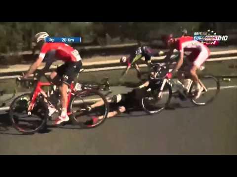 Contador crashes ? Volta a Catalunya 2015 crash stage 6