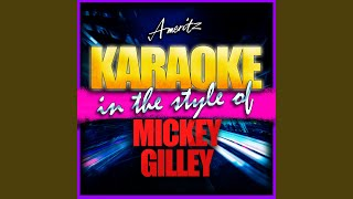 She's Pulling Me Back Again (In the Style of Mickey Gilley) (Karaoke Version)