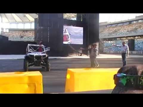 Top Gear Festival Durban 2014: Car does a backflip