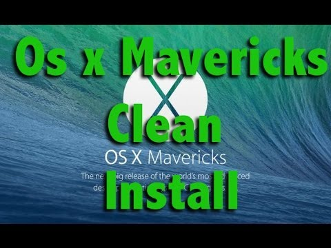 How To Restore A Macbook Pro To Factory Settings Without A Cd - Clean Install Of OS X Mavericks