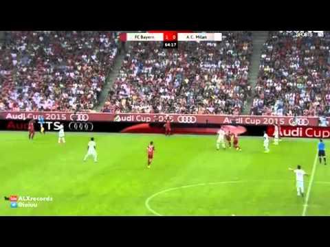 Xabi Alonso head disappears in bizarre real life FIFA glitch Bayern Munich vs AC Milan