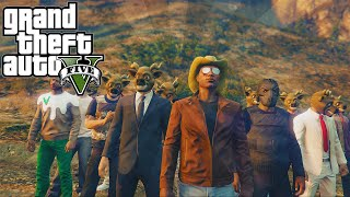 GTA 5 Online PS4 - Funny Deer Hunter Game w/ XpertThief! (GTA 5 PS4 Animal Funny Moments)