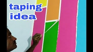 Taping interior wall design in jalna