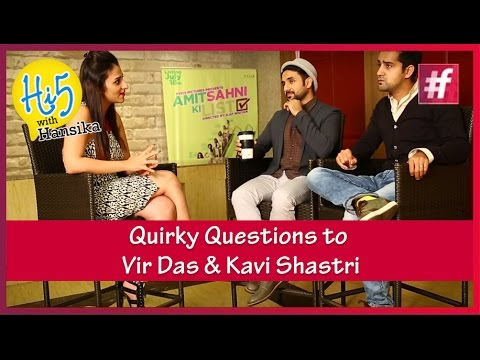 Quirky Questions to Comedians Vir Das and Kavi Shastri | Hi5 with Hansika