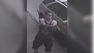 Philly Spic Runs Round from Back of Car at 44 Seconds & Shoots