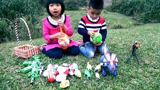 Bé Chơi Săn Trứng Khủng Long Trong Ngôi Nhà Hoang - Hunting Dinosaur Surprise Eggs*_*Baby channel.