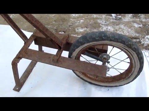 Плоскорез на колесе своими руками 84