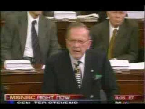 Sen Ted Stevens Reacts to Being Convicted NO! NO! NO! NO! NO! HAHAHAHHAHA!!!