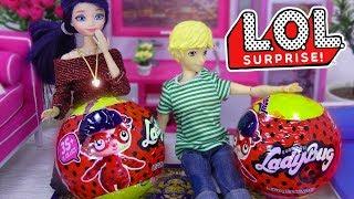 LOL FALSAS Marinette y Adrien abren sorpresas de Ladybug