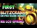 First Blitzcrank (duo w Mordekaiser) on pro scene in 2017 | NA LCS Spring FLY vs NV