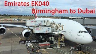 TRIP REPORT| Emirates EK040 Airbus A380 Birmingham BHX to Dubai DXB, September 2018