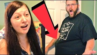 HEEL WIFE CATCHES FAT HUSBAND SNEAKING TOYS IN HIS PANTS!