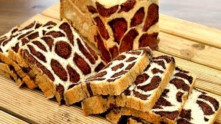 How It's Made Leopard Print Bread | Chocolate Milk Bread | Milk Loaf Recipe