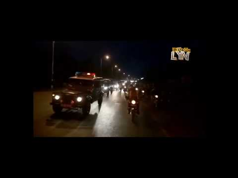 KENENE'S BODY ESCORTED IN THE LARGEST CONVOY EVER