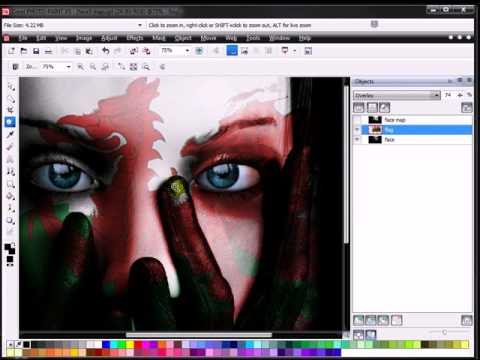 How to Face Paint With Corel