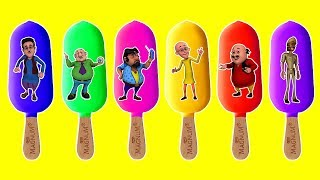 Motu Patlu  Chingam Ghasitaram Ice Cream Puzzles Funny Puzzle Finger family Kids Rhymes Learn Colors