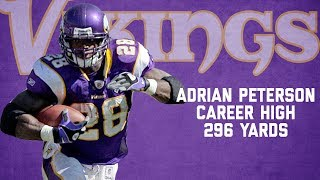 Adrian Peterson Every Rush from Career-High, 296-Yard Game | Chargers vs. Vikings (2007) | NFL