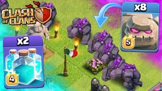 "Clash Of Clans | ""NEW"" All Max Golems & Clone Spells! 