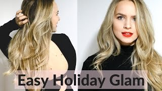 Easy Glam Hair and Makeup - Holiday Get Ready With Me!