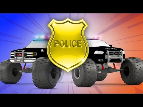 Police Car Vs Police Truck - Monster Trucks For Children | NEW MEGA COMPILATION | Rescue City Heroes