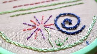 Learn Hand Embroidery with Me: Basic Stitches, Part 1 (for beginners)