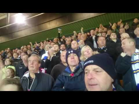 Leeds fans at Norwich singing Pontus Jansson song