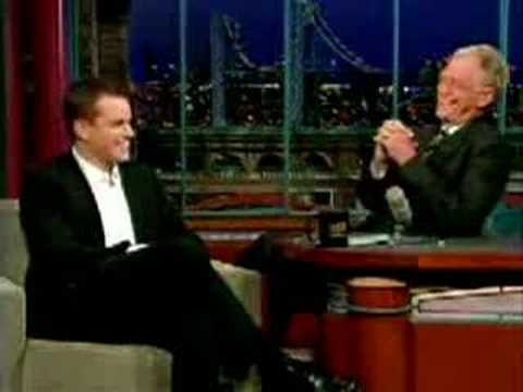 Matt Damon on Letterman impersonates McConaughey