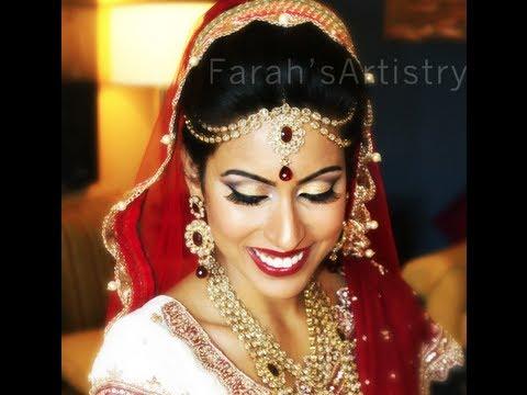 CLASSIC INDIAN PAKISTANI ASIAN BRIDAL MAKEUP LOOK REAL BRIDE