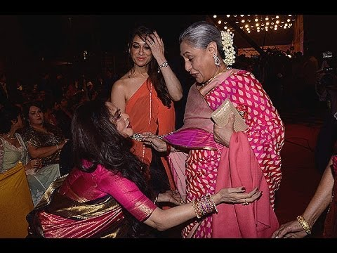 Rekha & jaya Bachchan Together @ Hema Malini's Daughter Ahana Deol Wedding