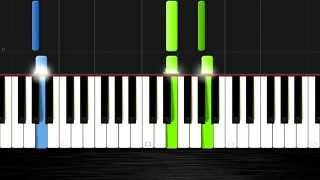 Tetris Theme - EASY Piano Tutorial (50% Speed) by PlutaX - Synthesia