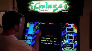 Galaga Arcade MAME Gameplay w/ Hypermarquee