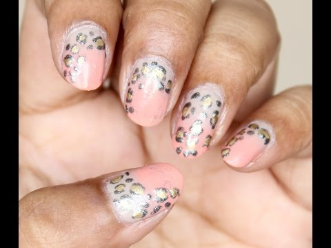 Fun Leopard Print Nail Art (No Tool)