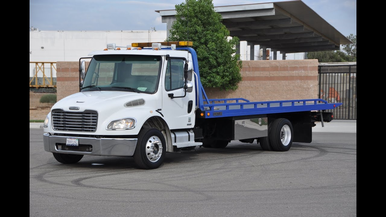 Freightliner M2 Century Rollback Flat Bed 2 Car Tow Truck