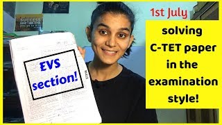 Solving C-TET Previous Year Paper In The Examination Style | C-TET 2012 EVS Solved
