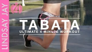 Tabata - Legs & Butt | Ultimate 4 Minute Workout