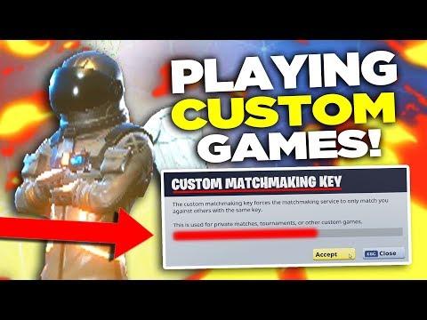 *NEW* CUSTOM GAMES! Playing Fortnite Custom Matchmaking Mode (KEY)