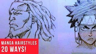20 Ways Drawing Manga   Comic Hairstyles