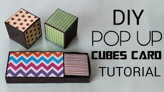 Pop up Cubes Card | How to make Pop up Cubes in a box Tutorial