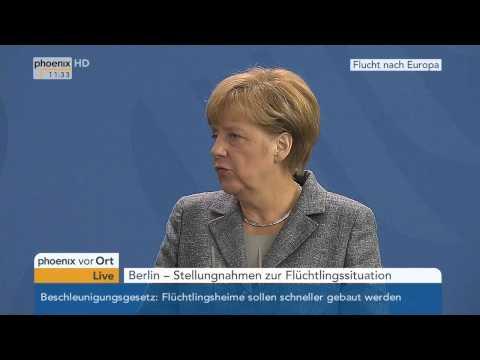 Asylpolitik: PK mit Angela Merkel & Aleksandar Vucic zur Flüchtlingssituation am 07.09.2015