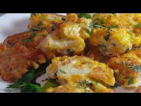 Как приготовить цветную капусту в сырном кляре