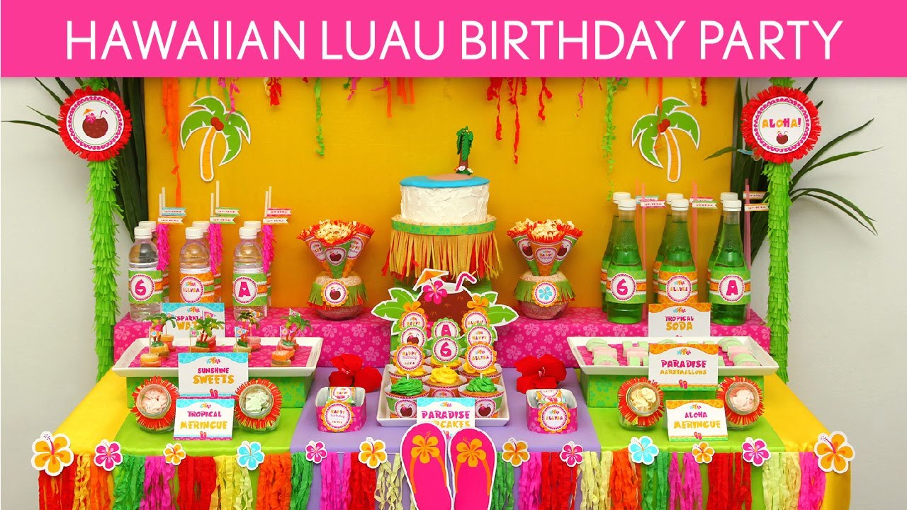Hawaiian Luau Birthday Party Ideas B45