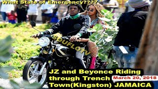 JZ and Beyonce riding through Bob Marley Trench Town Kingston Jamaica